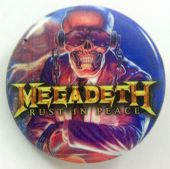 Megadeth - 'Vic, Rust in Peace' 32mm Badge